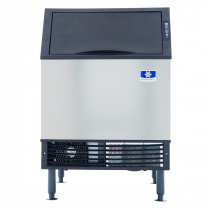 "Manitowoc UDF0140A NEO 26"" Air Cooled Undercounter Full Size Cube Ice Machine with 90 lb. Bin - 135 lb."