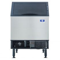 "Manitowoc UYF0240A NEO 26"" Air Cooled Undercounter Half Size Cube Ice Machine with 90 lb. Bin - 219 lb."