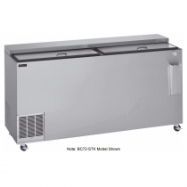 """Perlick BC48-STK-1 48"""" Flat Top Bottle Cooler in Stainless Steel"""