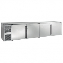 "Perlick BBSLP108_SSLSDC 108"" Low Profile Back Bar Refrigerator, Stainless Steel Doors and Left Condensing Unit"
