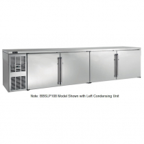 """Perlick BBSLP108_SSRSDC 108"""" Low Profile Back Bar Refrigerator, Stainless Steel Doors and Right Condensing Unit"""