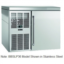 """Perlick BBSLP36_SSLGDC 36"""" Low Profile Back Bar Refrigerator, Glass Door with Stainless Steel Frame and Left Condensing Unit"""