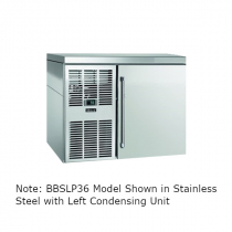"""Perlick BBSLP36_SSRGDC 36"""" Low Profile Back Bar Refrigerator, Glass Door with Stainless Steel Frame and Right Condensing Unit"""