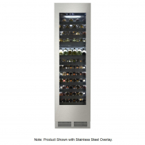 Perlick CC24W-1-4L Single Zone Reach-In Wine Column Refrigerator with Left Hinged Glass Door - 12.6 Cu. Ft.