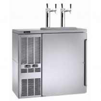 """Perlick DZS36_SSLSD 36"""" Dual-Zone Back Bar Refrigerated Beer and Wine Storage Cabinet, Left Condensing Unit"""