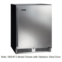 """Perlick HB24FSLP_BSDC 24"""" Low Profile ADA Compliant Undercounter Freezer, Solid Black Vinyl Door"""