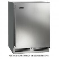 """Perlick HC24RS_BSDC 24"""" C‐Series Undercounter Refrigerator, Solid Black Vinyl Door"""