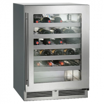 """Perlick HC24WS_SSGDC 24"""" C‐Series Undercounter Wine Reserve Refrigerator, Glass Door with Stainless Steel Frame"""