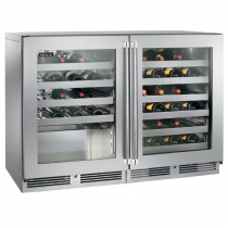 """Perlick HC48WS_SSGDC 48"""" C-Series Undercounter Wine Reserve Refrigerator, Glass Doors with Stainless Steel Frame"""