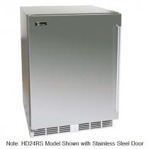 "Perlick HD24RS_BSD 18"" Shallow Depth Series Undercounter Refrigerator, Solid Black Vinyl Door"