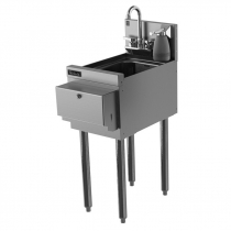 """Perlick TS12HSN-STK 12"""" Hand Sink with Faucet, Paper Towel Dispenser, and Soap Dispenser"""