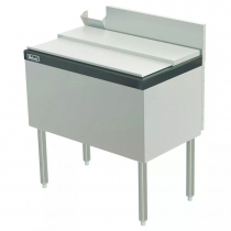 """Perlick TS24IC10-STK 24"""" Ice Chest with 10 Circuit Cold Plate with Cover and Soda Gun Chase"""