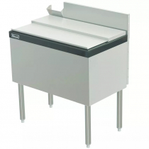 """Perlick TS30IC10-STK 30"""" Ice Chest with 10 Circuit Cold Plate with Cover and Soda Gun Chase"""