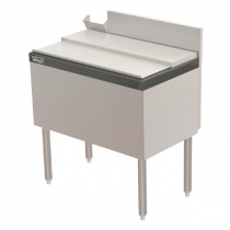 """Perlick TS36IC10-STK 36"""" Ice Chest with 10 Circuit Cold Plate with Cover and Soda Gun Chase"""