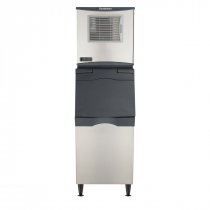"Scotsman C0322MW-1/B322S Prodigy Plus 22"" Wide Medium Size Cube Water-Cooled Ice Machine With Insulated Ice Storage Bin, 366 lb/24 hr Ice Production, 370 lb Bin Capacity, 115V"
