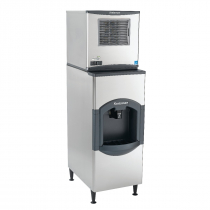 "Scotsman C0322MW-1/HD22B-1 Prodigy Plus 22"" Wide Medium Size Cube Water-Cooled Ice Machine With iceValet Hotel/Motel Ice Dispenser, 366 lb/24 hr Ice Production, 120 lb Storage Capacity, 115V"