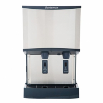 Scotsman HID540W-1 500 LB Meridian Water-Cooled Nugget Ice Machine Dispenser with Water Dispenser
