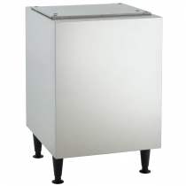 "Scotsman HST21B-A Stainless Steel 21-1/2"" Wide Ice Machine Stand For Meridian HID525 Or HID540 Ice And Water Dispenser"