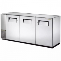 """True TBB-24GAL-72-S-HC 72"""" Stainless Steel Solid Swing Door Back Bar Cooler with Galvanized Top"""