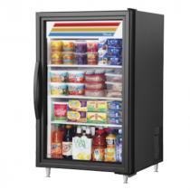 "True GDM-07-HC~TSL01 24 1/8"" Black Countertop Refrigerator with Hydrocarbon Refrigerant - 115V"