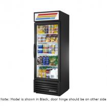 "True GDM-23-HC~TSL01 27"" White One Section Glass Door Refrigerated Merchandiser w/Left-Hinged Door - 115V"