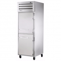 """True STR1R-2HS-HC 27.5"""" Spec Series Reach-In 1-Section Refrigerator With 2 Solid Half Doors, Stainless Steel Interior And 1 Interior Kit With Hydrocarbon Refrigerant, 115 Volts"""