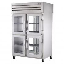 """True STR2RPT-4HG-2G-HC 53"""" Wide Front 4-Glass Half/Rear 2-Glass Doors Pass-Thru Refrigerator"""