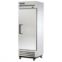 """True T-19-HC 27"""" T Series Reach-In 1-Section Refrigerator With 1 Solid Swing Door With Aluminum Interior And 3 PVC Coated Shelves, 115 Volts"""