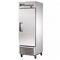 """True T-23-HC 27"""" T Series Reach-In 1-Section Refrigerator With 1 Hinged Solid Swing Door With Aluminum Interior And 3 PVC Coated Shelves With Hydrocarbon Refrigerant, 115 Volts"""