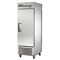 """True T-23PT-HC 27"""" T Series Pass-Thru 1-Section Refrigerator With 1 Solid Swing Door On Front And Rear, Aluminum Interior And 3 PVC Coated Shelves, 115 Volts"""