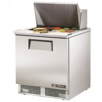 "True TFP-32-12M 32 1/8""  Single Door Refrigerated Salad / Sandwich Prep Refrigerator with 2 Shelves, 12 Pans and 134A Refrigerant - 115V"