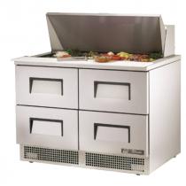 "True TFP-48-18M-D-4 48 1/8"" Four Drawer Salad / Sandwich Prep Refrigerator with 18 Pans and 134A Refrigerant - 115V"