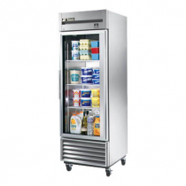 """True TS-23G-HC~FGD01 27"""" TS Series Reach-In 1-Section Refrigerator With 1 Glass Door With Stainless Steel Interior And 3 PVC Coated Shelves With LED Interior Lighting, 115 Volts"""