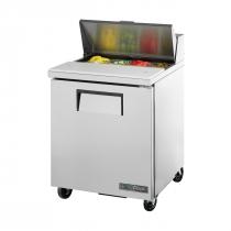 "True TSSU-27-08-HC 27 5/8"" One Door Sandwich / Salad Prep Refrigerator with Right-Hinged Door, 8 Pans and Hydrocarbon Refrigerant - 115V"