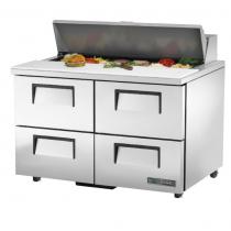 "True TSSU-48-12D-4-HC 48 3/8"" Sandwich / Salad Prep Refrigerator with 4 Drawers, 12 Pans and Hydrocarbon Refrigerant - 115V"