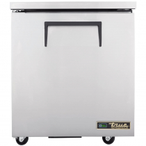 """True TUC-27-ADA-HC 27-5/8"""" Wide Solid Door ADA Height Undercounter Refrigerator with Left-Hinged Door"""