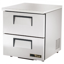 """True TUC-27D-2-LP-HC 27-5/8"""" Wide Low Profile Undercounter Refrigerator with Two Drawers"""