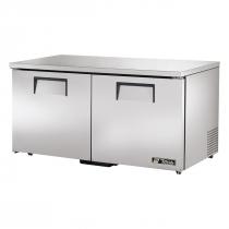 """True TUC-60F-LP-HC 60"""" Wide 2 Solid Door Low Profile Undercounter Freezer"""