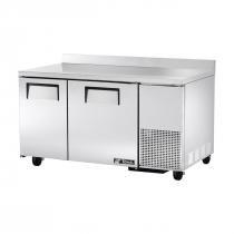"""True TWT-60-32F 2-Section 60"""" Wide Solid Door 32-Inch Deep Worktop Freezer"""
