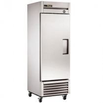 """True T-23-HC_LH 27"""" T Series Reach-In 1-Section Refrigerator With 1 Left-Hand Hinge Solid Swing Door With Aluminum Interior And 3 PVC Coated Shelves With Hydrocarbon Refrigerant, 115 Volts"""