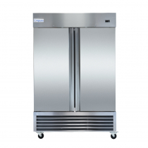 """Empura E-KB54R 53.9"""" Reach In Bottom-Mount Stainless Steel Refrigerator With 2 Full-Height Solid Doors - 41.6 Cu Ft, 115 Volts"""