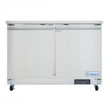 """Empura E-KUC48 48.2"""" Stainless Steel Undercounter Refrigerator With 2 Doors - 10.1 Cu Ft, 115 Volts"""
