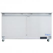 """Empura E-KUC60 61.2"""" Stainless Steel Undercounter Refrigerator With 2 Doors - 13.2 Cu Ft, 115 Volts"""
