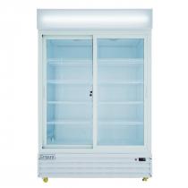 "Empura ESM-42W 52.3"" White Sliding Glass Door Merchandiser Refrigerator With 2 Doors, 42 Cubic Ft, 115 Volts"