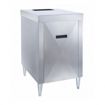 "Manitowoc K00453 Stainless Steel 22.2"" Wide Cabinet-Style Ice Dispenser Stand For CNF0201 Or CNF0202 Nugget Ice Dispenser"