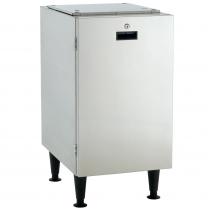 """Scotsman HST16-A Stainless Steel 16 1/2"""" Wide Cabinet-Style Ice Machine Stand With Reversible Locking Door For Meridian HID312 Ice And Water Dispenser"""