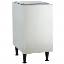 """Scotsman HST16B-A Stainless Steel 16 1/2"""" Wide Ice Machine Stand For Meridian HID312 Ice And Water Dispenser"""