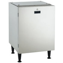 "Scotsman HST21-A Stainless Steel 21 1/2"" Wide Cabinet-Style Ice Machine Stand With Reversible Locking Door For Meridian HID525 Or HID540 Ice And Water Dispenser"