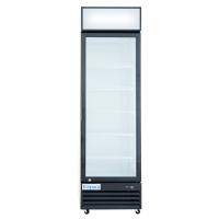 """Empura EGM-13B 22.7"""" Black Swing Glass Door Merchandiser Refrigerator With 1 Door, 13 Cubic Ft, 115 Volts"""