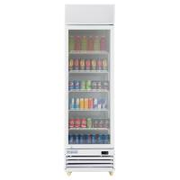 """Empura EGM-13W 22.7"""" White Swing Glass Door Merchandiser Refrigerator With 1 Door, 13 Cubic Ft, 115 Volts"""
